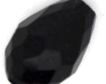 black drop bead, black teardrop bead, black tear drop bead, 12x8mm black drop bead, black drop bead 12x8mm, black glass drop bead,