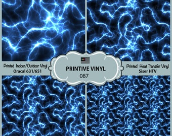 Electricity Lightning Printed Pattern Vinyl/Siser HTV/ Oracal/ Indoor Vinyl/ Outdoor Vinyl/ Heat Transfer Vinyl- 087