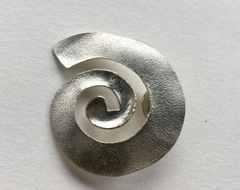 Silver Spiral brooch-pin/brooch