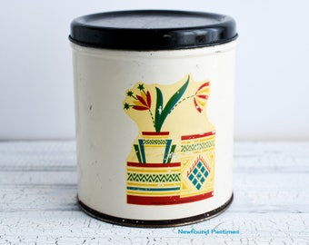 Single Vintage Kitchen Canister Tin 1950s