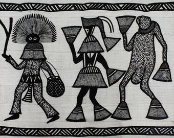 African Mudcloth, handwoven Mudcloth Korhogo