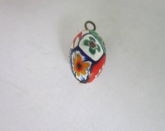 Vintage Venetian Millifiori  Art Glass Charm or Pendant