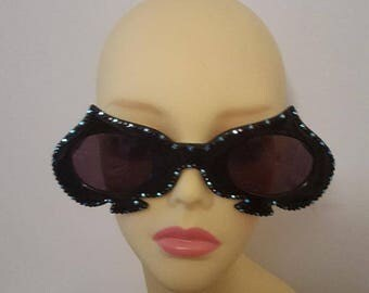 FunSpex Sunglasses Adorned with Swarovski Crystal -  Queen Of Spades