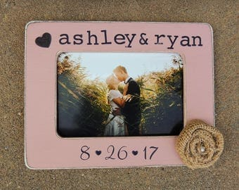 Wedding Gift idea Personalized Engagement wedding picture Frame gift for Bridal shower groom bride to be couple Wedding Gift