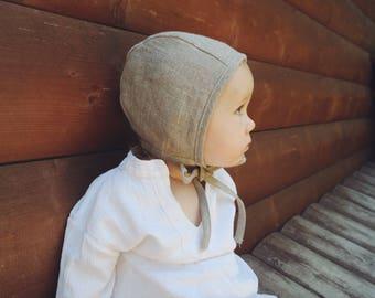 SALE Classic Gray baby bonnet