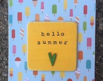 Hello summer! (ice cream)