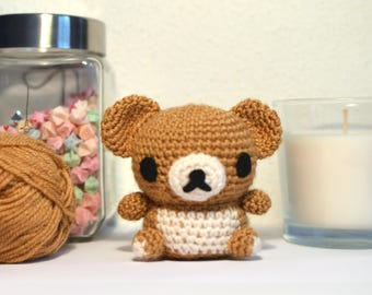 Rilakkuma Bear Crochet Amigurumi Doll Toy Gift Idea Decoration