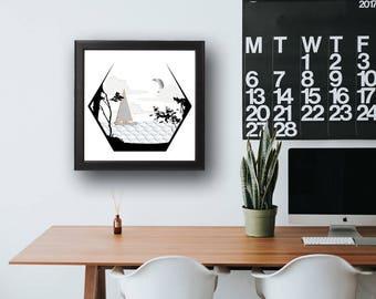 Scandinavian Art - Scandinavian Modern - Scandinavian Print - Scandi Print - Scandinavian Design - Wall Art - Scandi Design - Scandi Modern