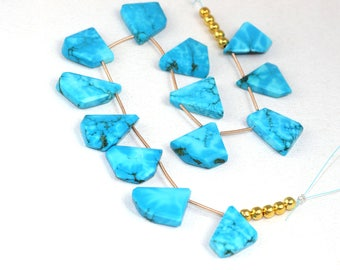 Excellent Quality 1 Strand Turquoise Faceted Nugget Size 15x20-20x26mm Approx Beads,Strand,Natural Turquoise,Nugget Turquoise,Faceted,13 Pcs