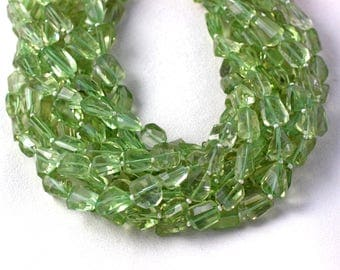 1 Strand Natural Green Amethyst Nuggets Faceted Beads 8-11mm Approx 14 inch long Strand,Natural Amethyst,Green Amethyst,Nuggets,Amethyst