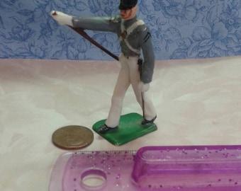 Antique toy soldier figurine. Revolutionary war toy soldier figurine. ANTIQUE West Point Toy Soldier