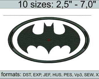 Batman Applique Machine Embroidery Design Batman embroidery design logo / embroidery designs / INSTANT download machine embroidery patter