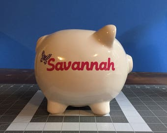 Personalized Piggy Bank!  Name and Design