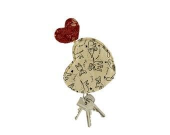 """Portallavero """"Corazon de Perro"""" - Heart Key Pouch"""