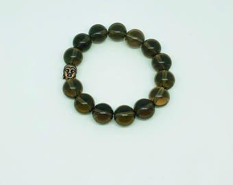 12mm Smokey Quartz Bracelet