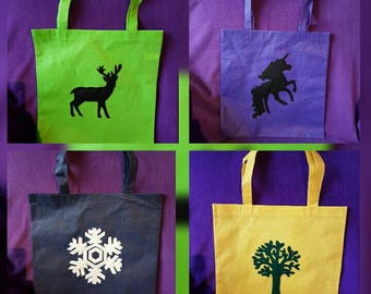 Hand designed tote bags