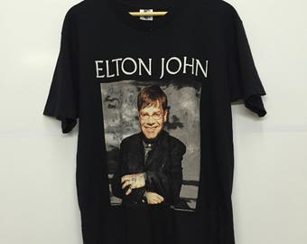Rare!! Vintage 90's Elton John and Ray Cooper 1995 Shirt