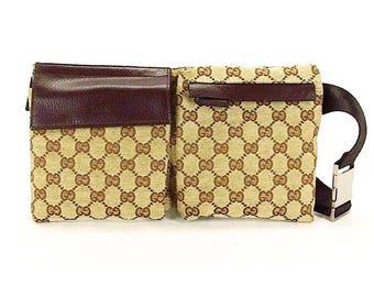 Authentic Gucci Monogram GG Waist Pouch