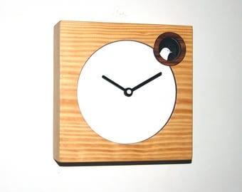 Wall clock- Desk Clock- cuckoo clock -natural veneer Californian pine