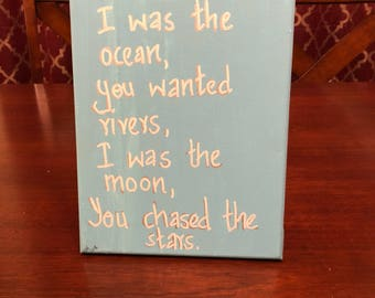 I was the ocean