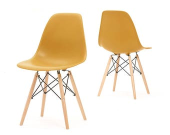MoF eames chair 2017 new colour DULL ORANGE. set of 2 or Set of 4 OFFER!!