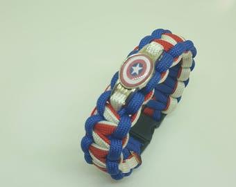 Captain America Paracord Bracelet