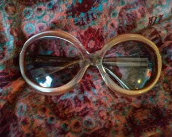 FILOS Vintage 1970s or 80s Round Oversized Sunglasses Made in Italy