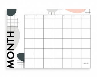 Mood Board - monthly Planner (set of 6)
