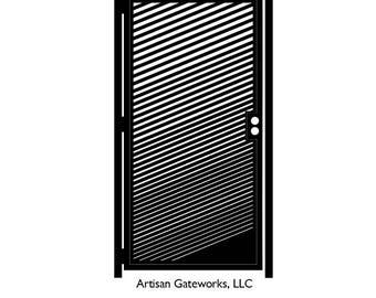 Metal Art Gate - Decorative Steel - Slash - Steel Garden Gate - Modern Gate - Geometric  Gate - Steel Art Panel