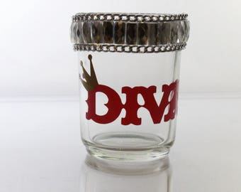 Diva Rhinestone Candle Holder