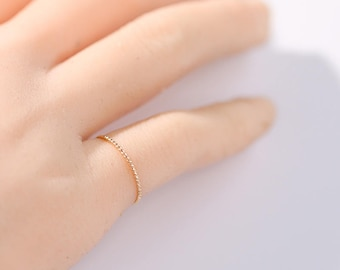 14k Gold Filled Stacking Ring, Gold Twist Ring, Minimalist Rings,Skinny Rings,Slim Stack Rings, Rolled Gold Ring, 14 k Gold rope ring