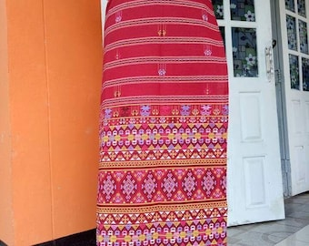 Cotton Hand Woven Cloth-red