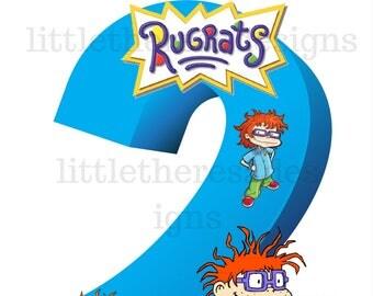 Rugrats  Birthday Iron On Transfer , Digital Transfer , Digital Iron On , DIY