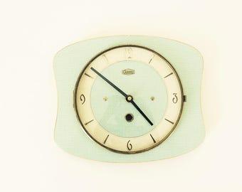 Wall Horlorge / CARREZ TRANSISTOR / green formica / vintage 1950