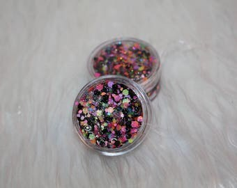Psychedelic Trance Rainbow UV COSMETIC GLITTER 20G
