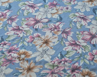 Allegra Soft Viscose Sky Blue Fabric