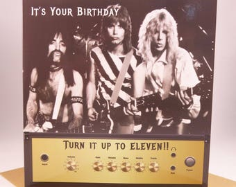 Spinal Tap Birthday Card For Men - Husband Boyfriend - turn it up to eleven