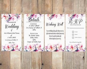 Floral Wedding Invitation Kit