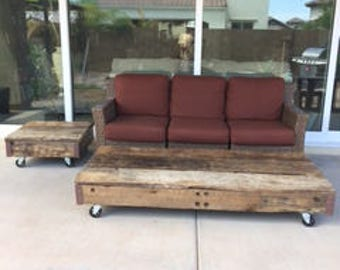 Reclaimed Barn Wood Coffee and End Table Set