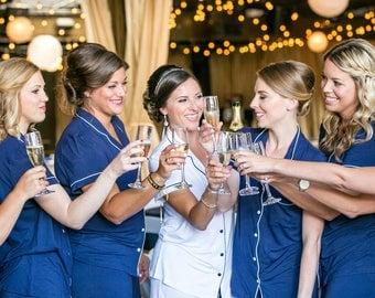 Bridesmaid robes, bridesmaid robes, bridesmaid robe set, set of bridesmaid robes, bridesmaid gifts, Bridesmaid robes set of 7, Bridesmaid