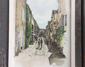 Monpazier, France Study