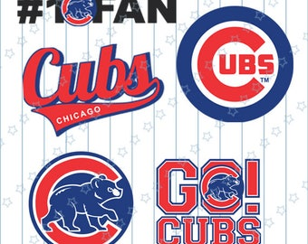INSTANT DOWNLOAD - Chicago Cubs Cut Files, Chicago Cubs svg, Chicago Cut Files, Chicago svg, Baseball svg, Sports svg, Baseball Clipart