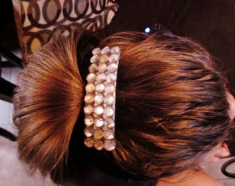 Hair barrette clip for special occasions and weddings or every day use to add some bling to your hair