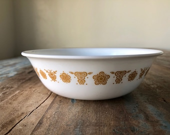 Cereal Bowl / Butterfly Gold / Soup Bowl / Butterfly Gold Corelle Bowl / Vintage Corelle Dishware / Pairs with Butterfly Gold Pyrex