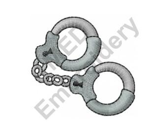 Handcuffs - Machine Embroidery Design, Police Handcuffs