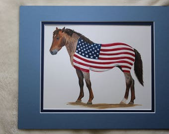 Original Signed Art, American Mustang