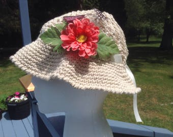 Vintage Crochet  Summer Hats