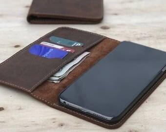 Leather iPhone Wallet,iPhone 7+ Case,iPhone 7 Case,Leather Folio,Leather Case,Phone Wallet,Personalized,Custom,monogram