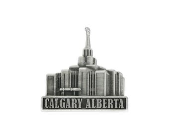 Calgary Alberta Temple Silver Pin - LDS Gifts