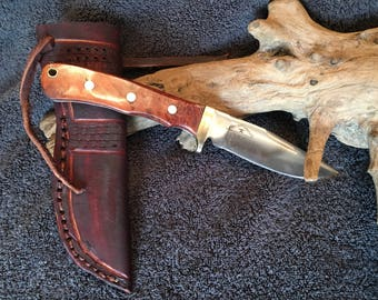 Hand forged clip point hunter